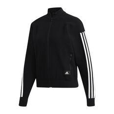adidas Womens ID Knit Track Jacket Black XS, Black, rebel_hi-res