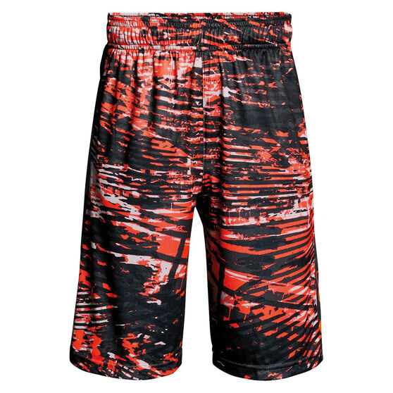 76e9f127c Under Armour Boys Stunt Printed Shorts Red   Grey L