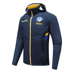 Parramatta Eels 2020 Mens Wet Weather Jacket Navy S, Navy, rebel_hi-res