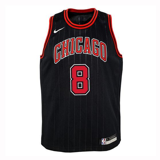 Nike Chicago Bulls Zach LaVine 2019/20 Kids Statement Edition Swingman Jersey, Black, rebel_hi-res