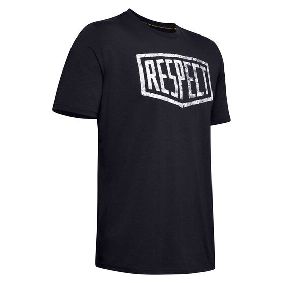 Under Armour Mens Project Rock Respect Graphic Tee, Black, rebel_hi-res