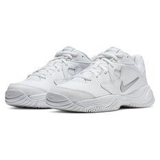 Nike Court Lite 2 Womens Tennis Shoes, White/Silver, rebel_hi-res