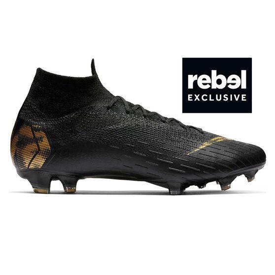 5dd4e72eaa9c Nike Mercurial Superfly 6 Elite Mens Football Boots Black / Gold US Mens 8  / Womens