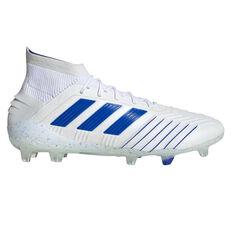 023d199cb5a adidas Predator 19.1 Football Boots White   Blue US Mens 7   Womens 8