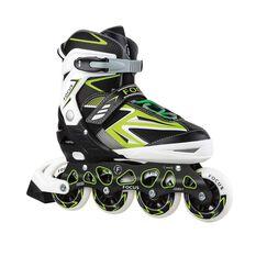 Blade X Focus Adjustable Skates Green S, Green, rebel_hi-res