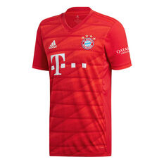 Bayern Munich 2019/20 Mens Home Jersey Red M, Red, rebel_hi-res