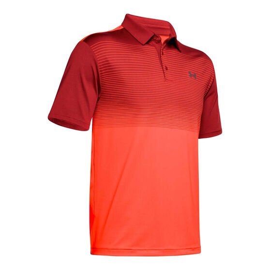 Under Armour Mens Playoff 2.0 Polo Red S, Red, rebel_hi-res