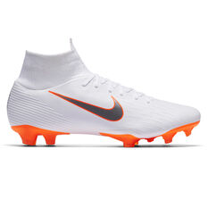 Nike Mercurial Superfly VI Pro Mens Football Boots White / Grey US 7, White / Grey, rebel_hi-res