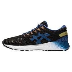 Asics Roadhawk FF 2 MX Mens Running Shoes Black/Blue US 7, Black/Blue, rebel_hi-res