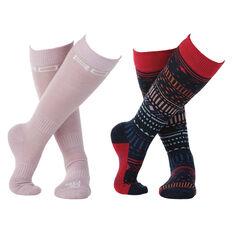 Rojo Girls 2 Pack Socks Multi US 1 - 7, , rebel_hi-res