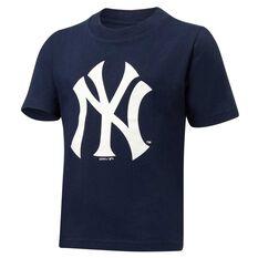 New York Yankees Short Sleeve Cotton Tee Navy / White 3, Navy / White, rebel_hi-res