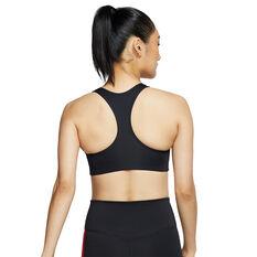 Nike Womens Swoosh Medium Support Sports Bra Black XS, Black, rebel_hi-res