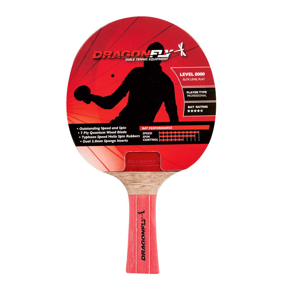 Dragonfly Pro 8000 Table Tennis Bat