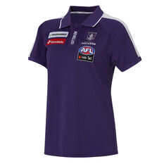 Fremantle Dockers AFLW 2020 Womens Media Polo Purple XS, Purple, rebel_hi-res