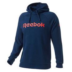 Reebok Mens Fleece Hoodie Navy XS, Navy, rebel_hi-res