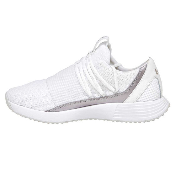 Under Armour Breath Lace X NM Womens Training Shoes, White / Pink, rebel_hi-res