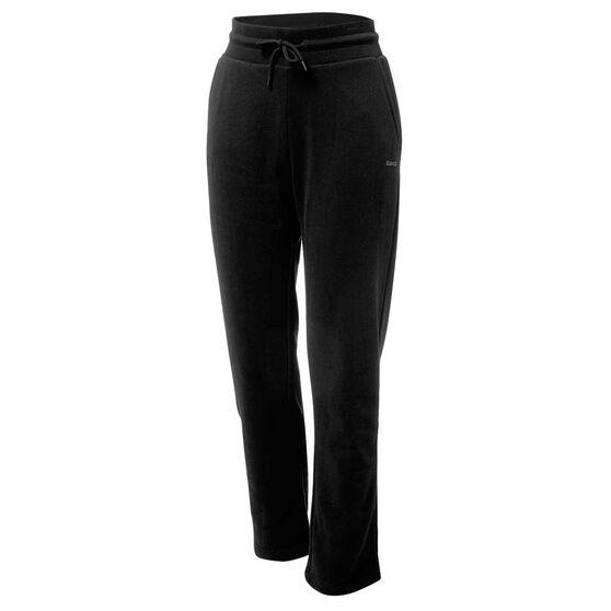 Ell & Voo Womens Lucy Fleece Track Pants, Black, rebel_hi-res