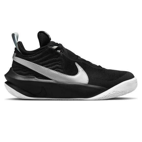 Nike Team Hustle D 10 Kids Basketball Shoes, Black, rebel_hi-res