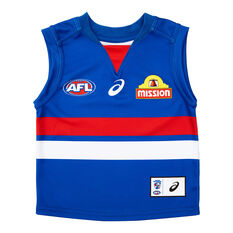 Western Bulldogs 2021 Toddler Home Jersey Blue 00, Blue, rebel_hi-res