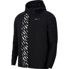 Nike Mens Essential Graphic Running Jacket Black XS, Black, rebel_hi-res