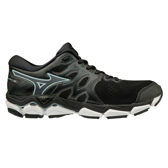 Mizuno Wave Horizon 3 Womens Running Shoes, Black / White, rebel_hi-res