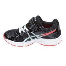 Asics Gel Contend 4 Junior Girls Running Shoes Black / Pink US 11, Black / Pink, rebel_hi-res