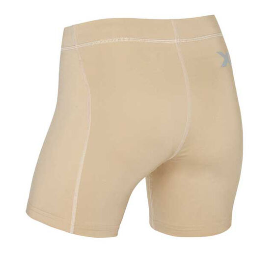 2XU Womens Compression 5in Game Day Shorts, Beige, rebel_hi-res