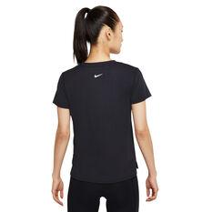 Nike Womens Dri-FIT Swoosh Run Tee Black XS, Black, rebel_hi-res