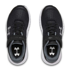 Under Armour Pursuit Kids Running Shoes Black / White US 11, Black / White, rebel_hi-res
