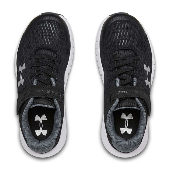 Under Armour Pursuit Kids Running Shoes, Black / White, rebel_hi-res