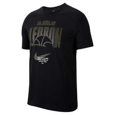 Nike Mens LeBron Dri-FIT Tee Black S, Black, rebel_hi-res