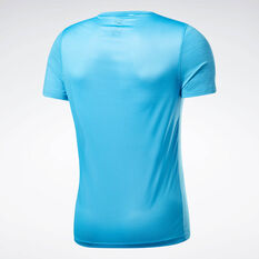 Reebok Mens Workout Ready ACTIVCHILL Graphic Tee Aqua XS, Aqua, rebel_hi-res