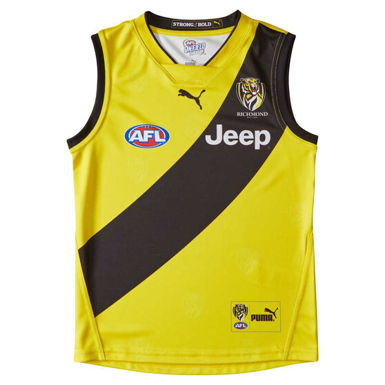 Richmond Tigers 2019 Youth's Away Guernsey Black / Yellow 14