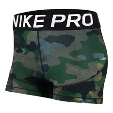 Nike Womens Pro Shorts Camo XS, Camo, rebel_hi-res