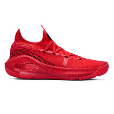Under Armour Curry 6 Kids Basketball Shoes Red / Black US 4, Red / Black, rebel_hi-res