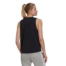 adidas Womens Essentials Big Logo Tank Black XS, Black, rebel_hi-res