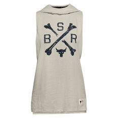 Under Armour Womens Project Rock Sleeveless Hoodie White S, White, rebel_hi-res
