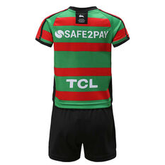 South Sydney Rabbitohs 2020 Infants Home Kit Green / Red 1, Green / Red, rebel_hi-res