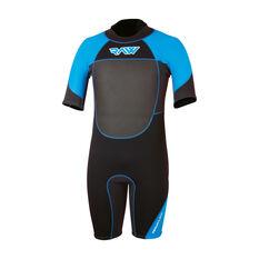 Raw Mens Spring Wetsuit Black / Blue S, Black / Blue, rebel_hi-res