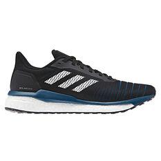 adidas Solar Drive Mens Running Shoes Black / White US 7, Black / White, rebel_hi-res