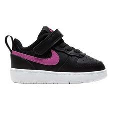 Nike Court Borough Low 2 Toddlers Shoes Black/Pink US 4, Black/Pink, rebel_hi-res