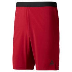 Reebok Mens Speedwick Speed Training Shorts Red S, Red, rebel_hi-res