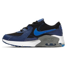Nike Air Max Excee Kids Casual Shoes Black/Blue US 11, Black/Blue, rebel_hi-res