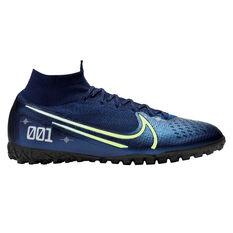 Nike Mercurial Superfly VII Elite Touch and Turf Boots Blue / Silver US Mens 7 / Womens 8.5, Blue / Silver, rebel_hi-res