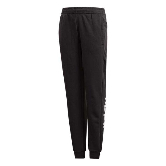 adidas Girls Linear Pants, Black / White, rebel_hi-res