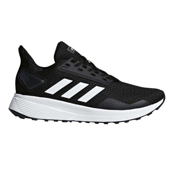 adidas Duramo 9 Kids Running Shoes, Black / White, rebel_hi-res