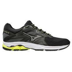 Mizuno Wave Kizuna Mens Running Shoes Black / Yellow US 8, Black / Yellow, rebel_hi-res