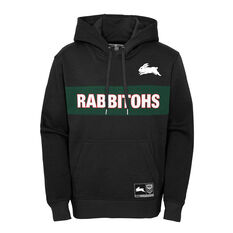 South Sydney Rabbitohs 2021 Kids Hoodie Black S, Black, rebel_hi-res