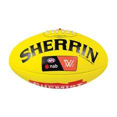 Sherrin AFLW Leather Replica Game Ball Yellow 4, , rebel_hi-res