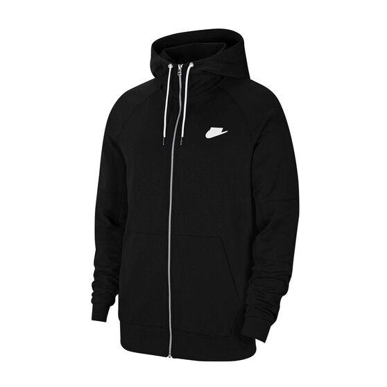 Nike Mens Sportswear Full Zip Fleece Hoodie, Black, rebel_hi-res